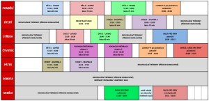 HARMONOGRAM STUDIA LEDEN - BŘEZEN 2020
