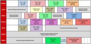 harmonogram MG Dance - září až prosinec 2019